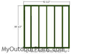 Back wall frame - section 2