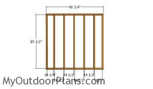 Back wall frames - 8x24 run in shed