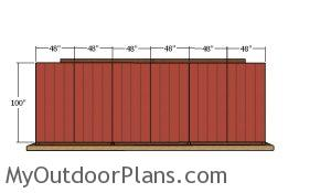 Back wall siding sheets - 8x24 run in shed