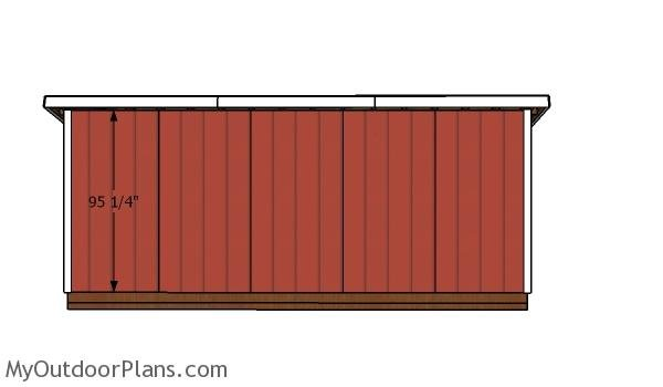 Back wall trims - 5x20 Shed
