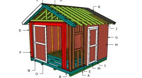 12×12 Gable Shed Roof Plans