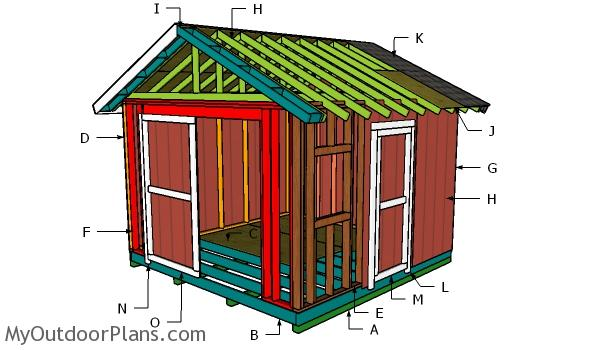 12x12 Gable Shed Roof Plans