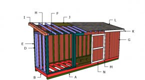 5×20 Lean to Shed Roof Plans