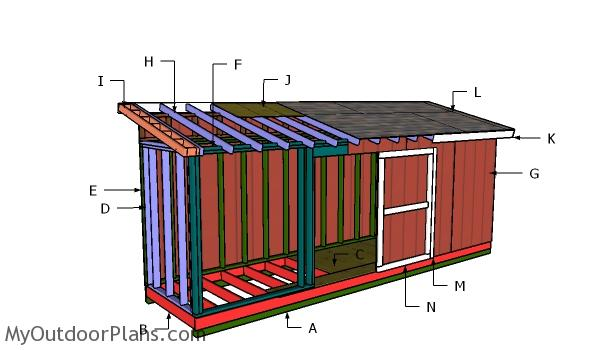 5x20 Lean to Shed Roof Plans