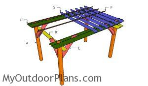 Building a 8x12 wooden pergola