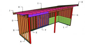 8×24 Run In Shed Roof Plans