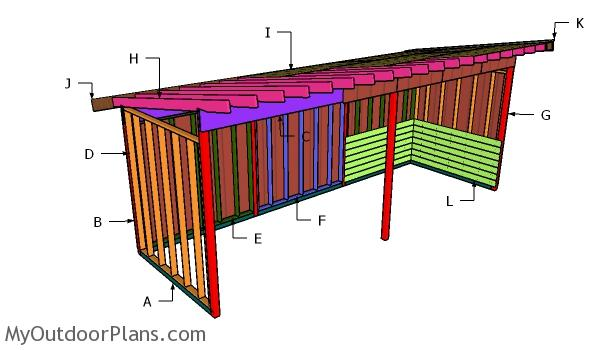 8x24 Run In Shed Roof Plans