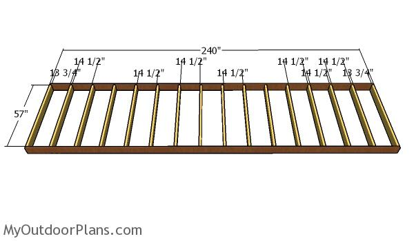 Building a shed frame - 5x20