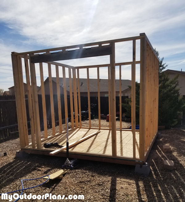 DIY-10x10-Shed---Wall-Frames