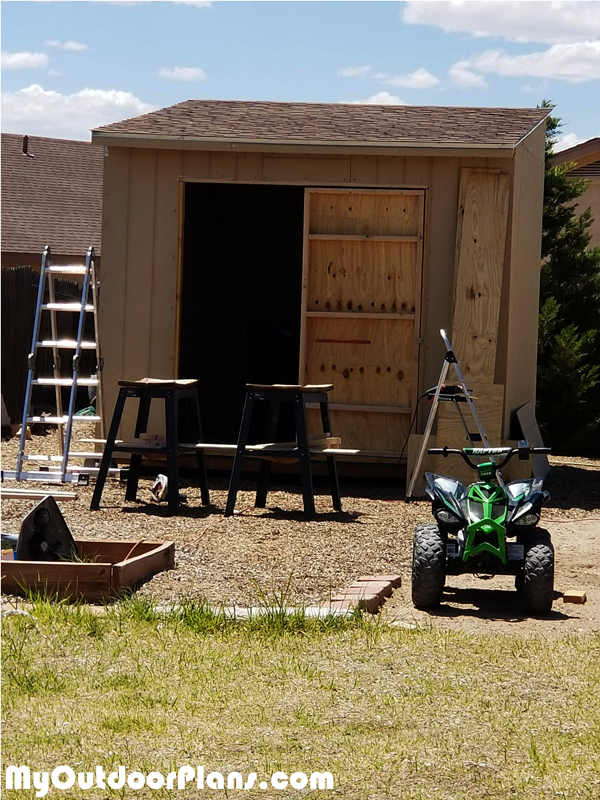 DIY 10x10 Flat Roof Shed