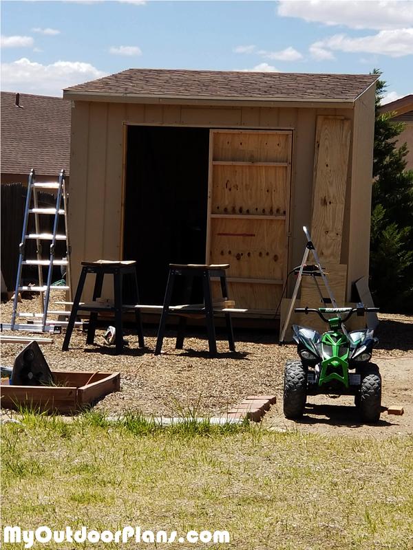 DIY 10x10 Flat Roof Shed