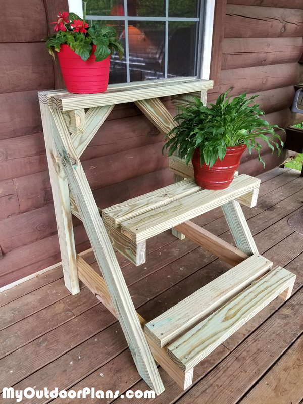 DIY 2x4 Plant Stand