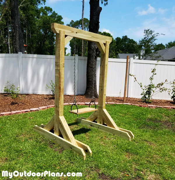 DIY Wooden Swing Stand