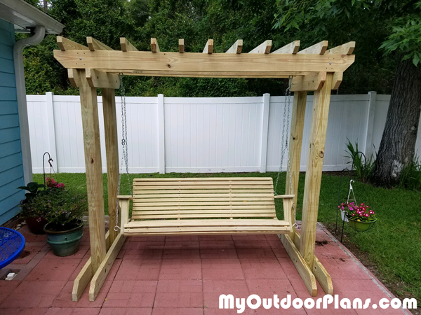 DIY Arbor with Swing
