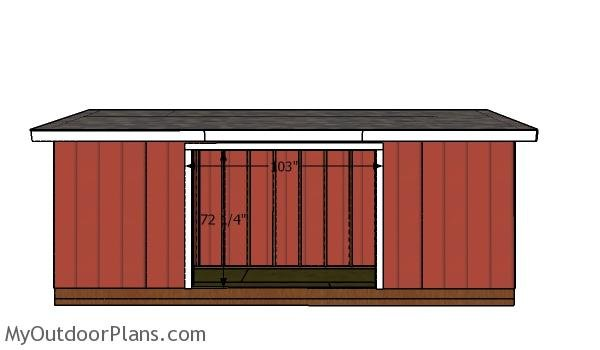 Door jambs - 5x20 shed