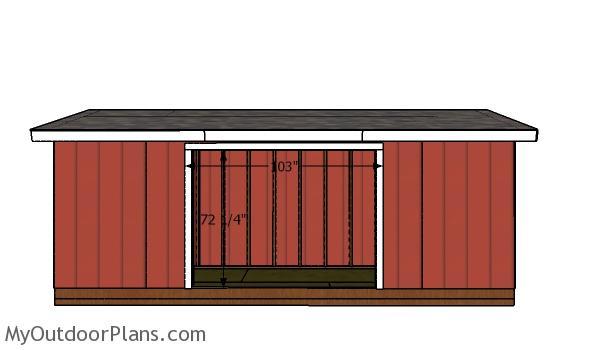 Door jambs - 5x20 shed