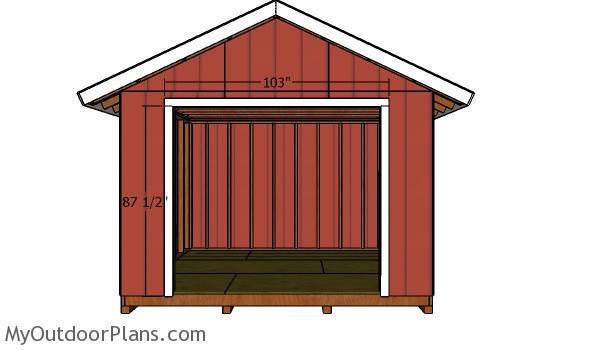 Double door jambs - Storage shed