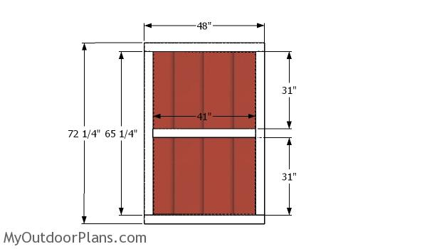 Double doors - 5x20 shed