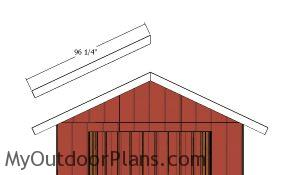 End shed roof trims
