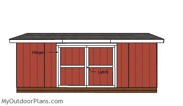 5×20 Lean to Shed Doors Plans