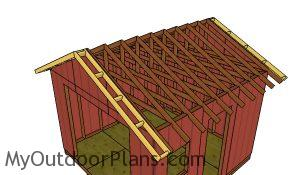 Fitting the overhangs - Shed Plans