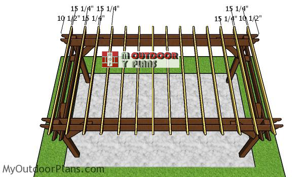 Fitting-the-rafters---10x18-pergola