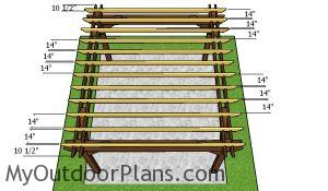 Fitting the rafters - 12x14 pergola plans