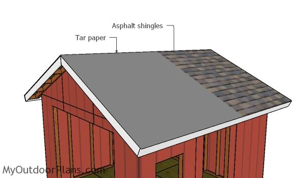 Fitting the roofing - Shed Plans