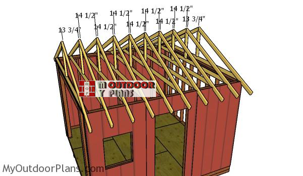 Fitting-the-trusses---12x12-shed