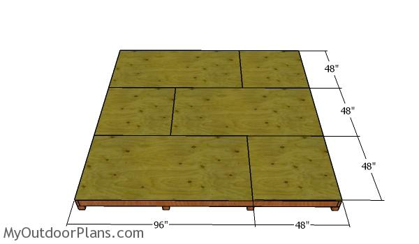 Floor sheets - 12x12 Shed
