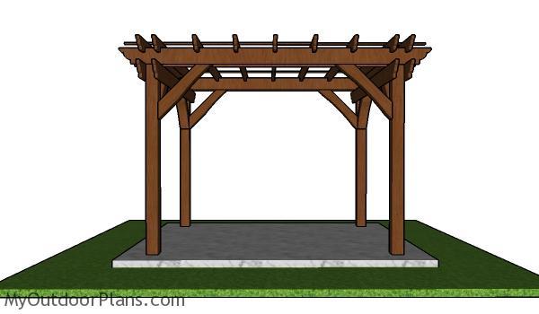 Free standing patio pergola - 8x10