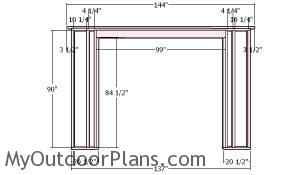 Front wall frame - Shed 12x12