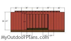 Front wall siding sheets - 5x20 shed