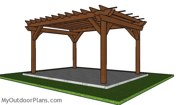 How to build a 10x14 pergola