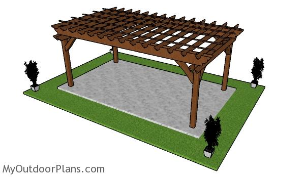 How to build a 10x18 pergola - Free PDF