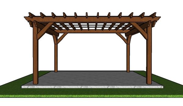 How to build a 12x14 pergola - diy