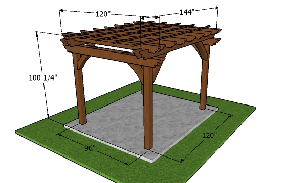 How to build a 8x10 pergola