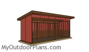 How to build a 8x24 run in shed