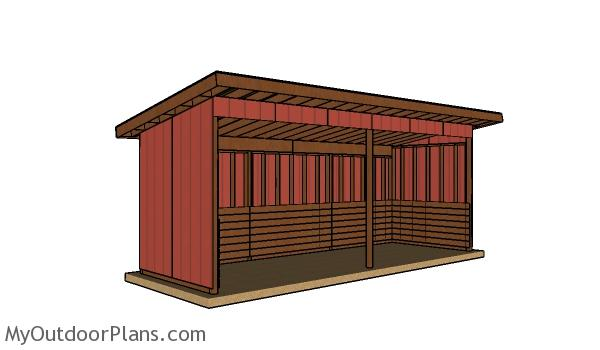 8x24 Run In Shed Plans - Free PDF Download