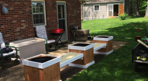 DIY Bench with 3 Planters