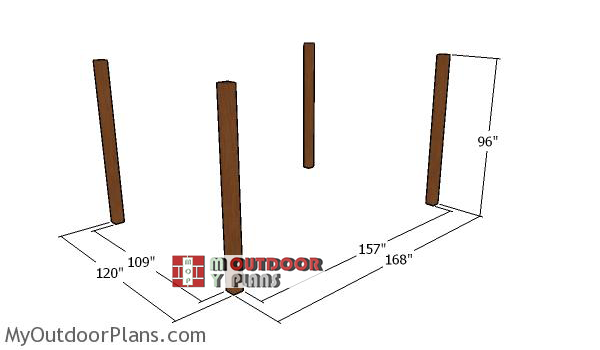 Laying-out-the-10x14-pergola