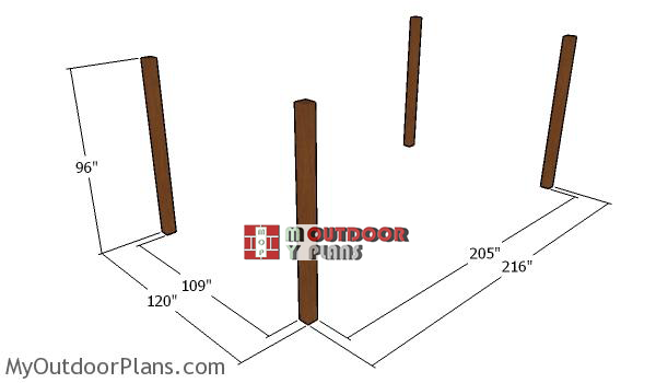 Laying-out-the-10x18-pergola