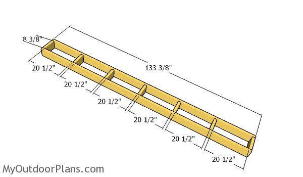Overhangs - 8x24 run in shed