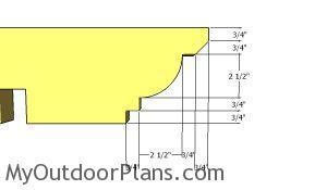 Rafter end - Decorative cut