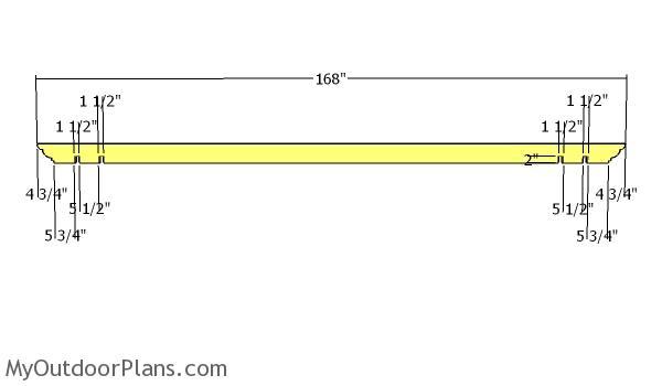 Rafters - 12x14 pergola