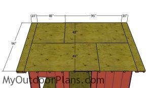 Roof sheets - 12x12 Gable Shed