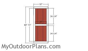 Side door - 12x12 garden shed
