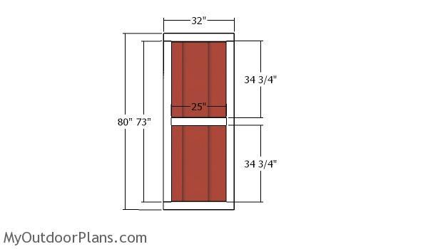 Side door - 12x12 garden shed