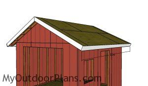 Side roof trims p- 12x12 shed