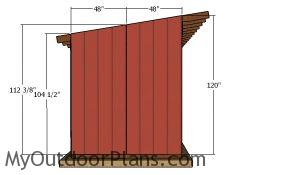Side siding panels - 8x24 run in shed